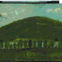 Painting of the Seven Pines and the Red House