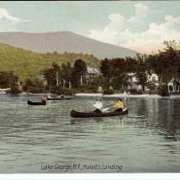 Lake George - Huletts Landing. Robson and Addee Postcard f